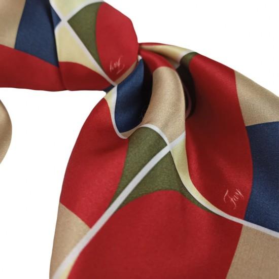 Шелковый платок, Геометрический принт Фей (60x60 см)